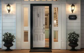 exterior solid Lacquered wooden door